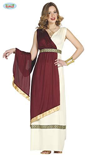 antikes Tiberia Römerin Kleid Karneval Party Kostüm Damen rot beige Gold Gr. M-XL, Größe:L