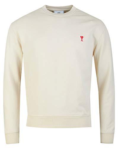 Ami De Coeur Heart Logo Sweatshirt Large Ecru