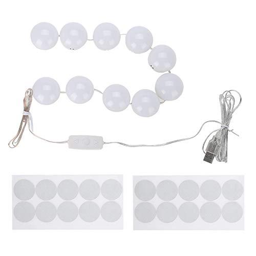 Lampes de vanité de maquillage pour miroir, miroir de maquillage à LED lumières ampoule à inité variable tons chauds/froids