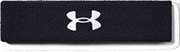 Under Armour Men s Performance Headband  Black  001 /White  One Size Fits All