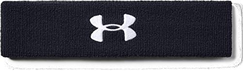 Under Armour Men's Performance Headband , Black (001)/White , One Size Fits All