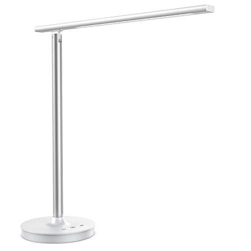Trswyop Lampe de Bureau 35LED 5 Mode de Couleur 10 Niveaux de Luminosité Lampe de Table Lampe de Lecture Contrôle Tactile Lampe de chevet avec USB Port pour charger Smartphone[Classe énergétique A++]