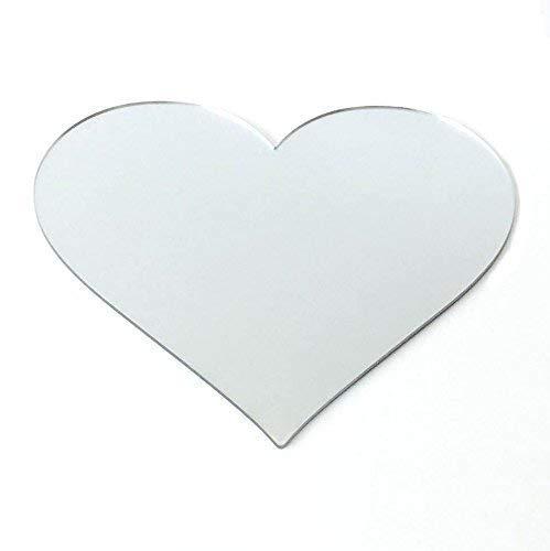 Super Cool Creations 8Espejo con Forma de corazón Espejo acrílico Posavasos