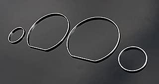 OriginalEuro Chrome Speedometer Gauge Dash Dial Rings Bezel Trim for VW Golf Jetta MK3 3 Vento