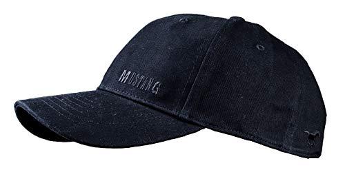 MUSTANG Basecap Mütze 6-Panel-Cap Base Cap Kappe Baseball Cap uni one size div. Farben (schwarz)
