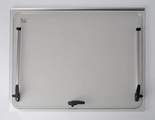 NRF srl Vetro di Ricambio 668x232 per Finestra Camper Seitz 700x300 - Colore Grigio - compresi Accessori