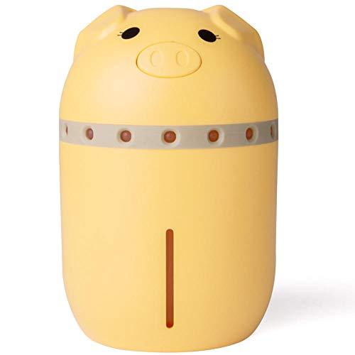 LOPOLLG Leuke luchtbevochtiger met varken, 3-in-een, met licht en ventilator, geschikt voor luchtbevochtiger in de kinderwagen, babyslaapkamer