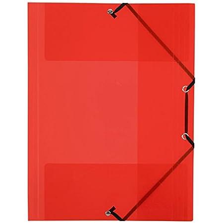 Viquel Chemise 3 rabats en propyglass A4 Rouge