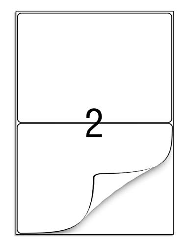 100 Blatt Universal Etiketten Aufkleber DIN A4 200 Selbstklebend Etiketten 210 x 148 mm Adressetiketten Aufkleber - Geeignet für Laser/Inkjet/Kopierer Einsetzbar