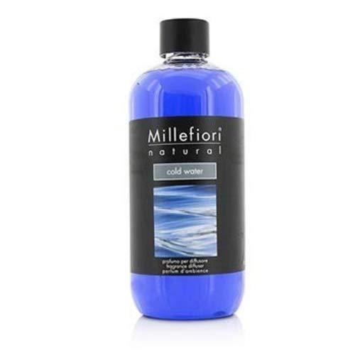 Millefiori 7RECW Cold Water Nachfüllflasche 500 ml für Raumduft Diffuser Natural, Plastik, Blau, 7.6 x 6.5 x 17.7 cm