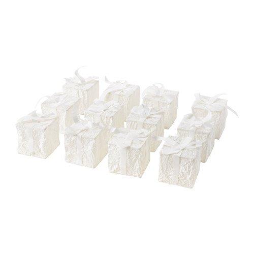 Ikea Strala Dekoration für Lichterkette Schachteln; in weiß; 12 Stück