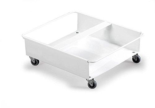 Durable 1801667010 Fahrwagen Durabin Duo für zwei 60 Liter, 1 Stück weiß