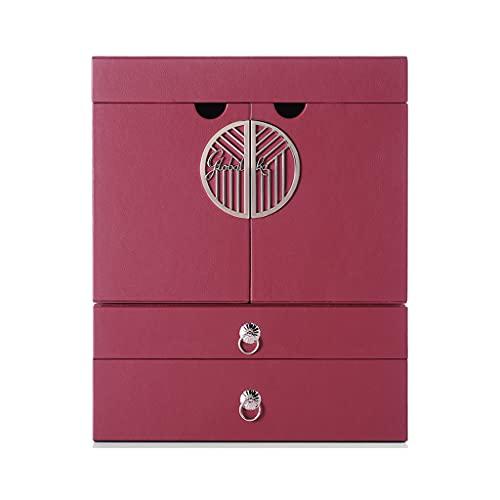 Boîte de Rangement cosmétique pour Soins de la Peau boîte de Rangement pour Bureau à Domicile étagère intégrée Meuble de Rangement pour Coiffeuse avec Miroir