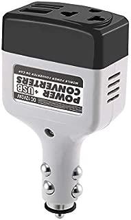 Ququack DC 12/24 V to AC 220 V/USB 6 VカーパワーインバーターアダプターUSBインターフェイス付きモバイルオートパワーカーチャージャーコンバーター