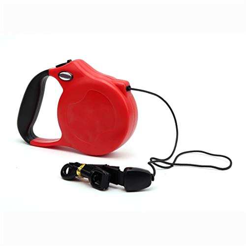 CSMZ Halsbanden en middelgrote hondenlijn Automatic Retractable hondenriemen hondenriemen Leash Pet Supplies (Color : Red, Size : 8M)