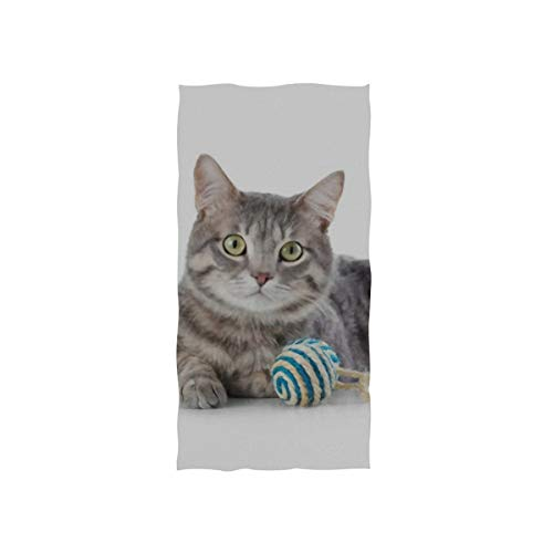 Towel Cat Bottle Flea Shampoo On White Hand Towels 30 X 15 Inch, Bath Bathroom Shower Towels Hand Washcloth Cotton Fingertip Towels Highly Absorbent