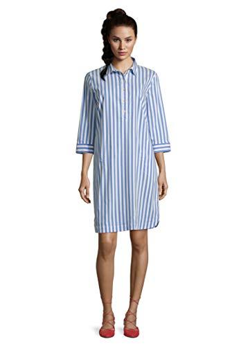 Betty Barclay Collection Damen 1039/1443_8810 Kleid, Blue/White, 46
