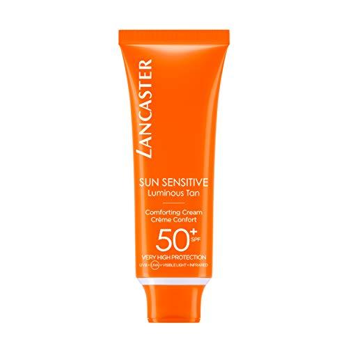 LANCASTER Sun Sensitive Delicate Comforting Cream LSF 50+, Körper-Sonnenmilch, Infrarot-, UVA- und UVB-Schutz, 50 ml