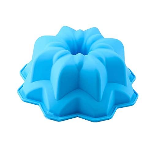 Moldes de silicona para tortas grandes, forma de corona de flores, utensilios para hornear, herramientas para hornear, pan 3D, molde de pizza, cacerola de pizza, cumpleaños, boda, fiesta