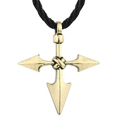 N/G Collar de Hombre Viking Rune Slav Amuleto Colgante Retro Redondo Regalo de Moda para Hombre