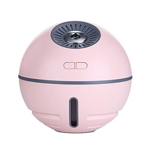 LGF Helmet Raumball Auto Aroma Luftbefeuchter0-30dB Geräuschreduzierung Mini Cooper 300ML Kapazität Luftbefeuchter für Office Home Schlafzimmer USB-Aufladung,Pink