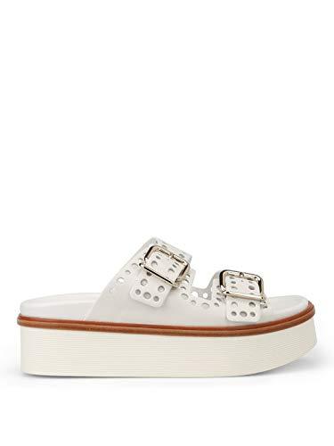 Tod's Luxury Fashion Damen XXW97A0Y520NB5B001 Weiss Leder Sandalen | Jahreszeit Permanent
