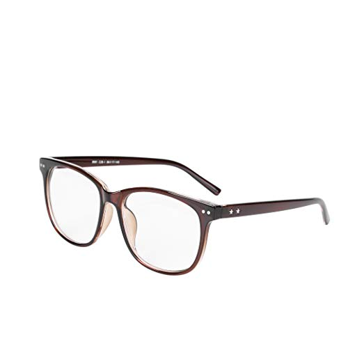 Brille Brillengestelle Ohne Sehstärke Voll Rahmen Stern Pantobrille Streberbrille Fensterglas Nerdbrille Damen Herren Ebenenspiegel Brillefassung Lesebrille Winddicht Leicht Vintage Transparent
