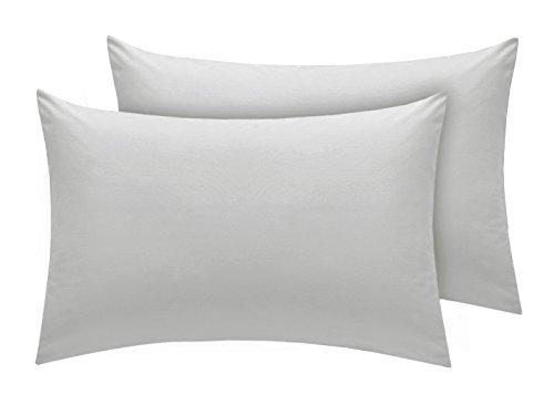 Lenzuolo con angoli, 16% cotone egiziano, 200 fili, per materasso alto 40 cm, Silver, Housewife Pillow Pair