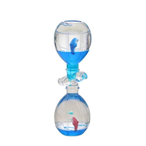 Supvox flüssigkeit Timer kreative Sanduhr Schreibtisch Ornamente dekor Geburtstag Spielzeug (zufällige Farbe)