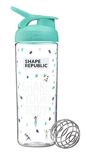 Shape Republic BlenderBottle® (820ml) Shaker für Shakes, Wasser und Smoothies, Frei von BPA, mit Messskala