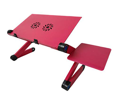 CDwxqBB opvouwbare laptopstandaard, draagbaar laptopbureau, in hoogte verstelbaar, afneembare muislade voor 7-15,6 inch opvouwbare laptop, B