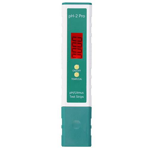 Les-Theresa Medidor de pH: medidor de pH, probador de PH Digital, bolígrafo con función de Tira reactiva, termómetro para Beber Agua de Piscina