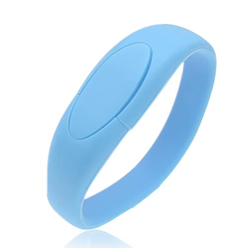 16GB USB 3.0 Pendrive Pulsera Memorias USB Suave Silicio Pulsera Pen Drive Kepmem Almacenamiento de Datos Externo de Alta Velocidad para Niño, Azul