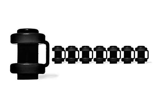 Ergonation® Trampolin Endkappen   Set mit 8 Abschlusskappen zur Befestigung des Sicherheitsnetzes an den Netzstangen des Trampolins (Schwarz)