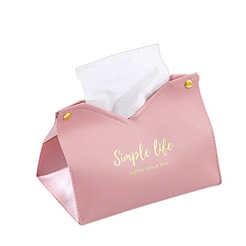Sala de Estar Familiar Dormitorio Chica Caja de Almacenamiento de Papel de extracción de Cuero Rosa