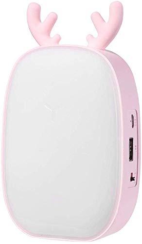 APcjerp Lámpara de escritorio LED para el cuidado de los ojos, lámpara de control táctil para leer, oficina, estudio, mesita de noche y másCute Deer LED lámpara de mesa, color rosa