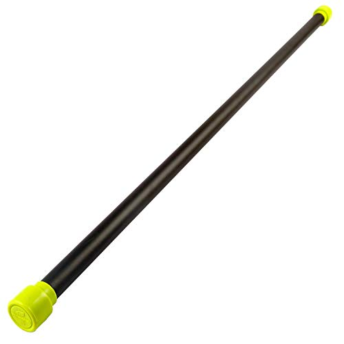 Fitness Alley Weighted Bar Total Workout Bar, Solid Steel Exercise Bar – Stretching Weight Exercise Bar for Physical Therapy, Body Toning, Aerobics, Yoga – 08lb (Green)