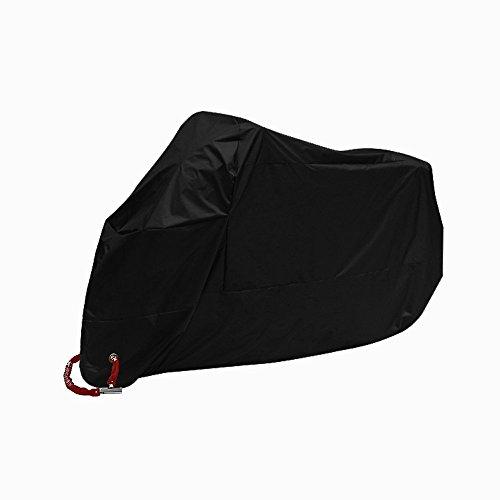 Bestland Motorrad Abdeckung Wasserdicht Staubdicht UV-Schutz Atmungsaktiv Sunblocker Motorradplane CoverOutdoor Roller Abdeckplane, Schwarz (XXL)