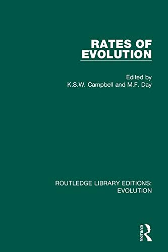 Rates of Evolution (Routledge Library Editions: Evolution, Band 2)