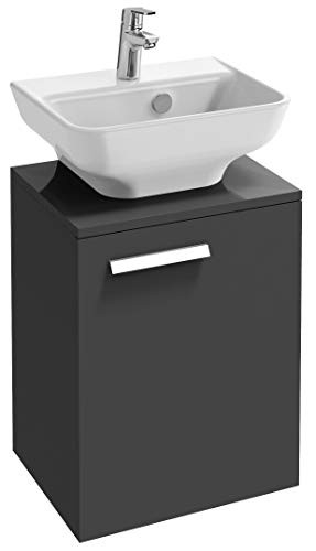 Jacob Delafon EBP1397D-N18 Struktura - Mueble de baño (45 cm, acabado en nogal claro/gris antracita con grifo imantado, acabado cromado
