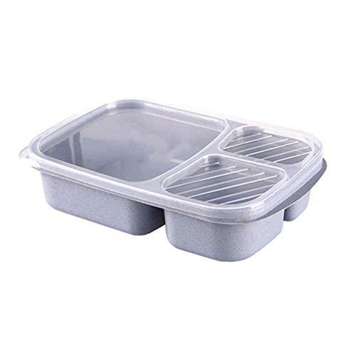 1000Ml Portable Gezond Materiaal Lunch Box Tarwestro Bento Boxes Magnetron Servies Eten Container Van De Opslag Foodbox