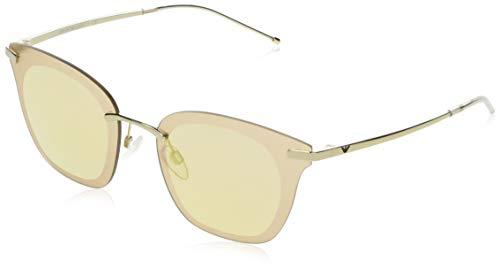 Emporio Armani Damen 0EA2075 Sonnenbrille, (Pale Gold), 60