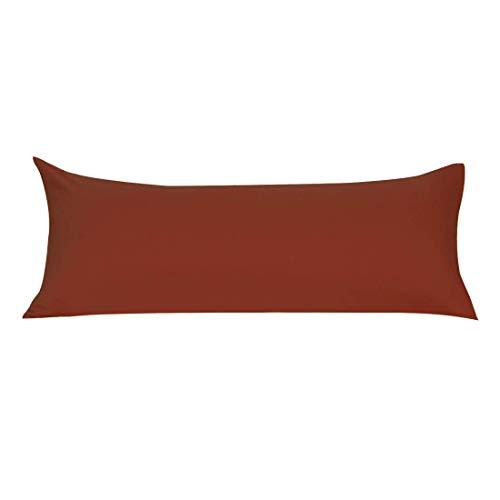YeVhear Funda de cojín de cuerpo de microfibra suave con cremallera, fundas de almohada largas para almohada de cuerpo de 90 g/m2, color naranja