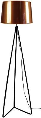 Tosel 51050 Pied Triangle, Acier/Peinture Époxy/PVC, Noir/Cuivre, 450 x 1630 mm
