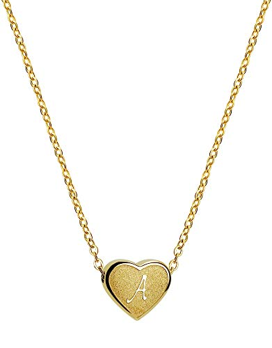 PORPI-JOJO Tiny Gold Initial Heart Necklace-18K Gold Plated Dainty Personalized Letter A-Z Choker Necklaces Gifts for Women Girls Jewelry