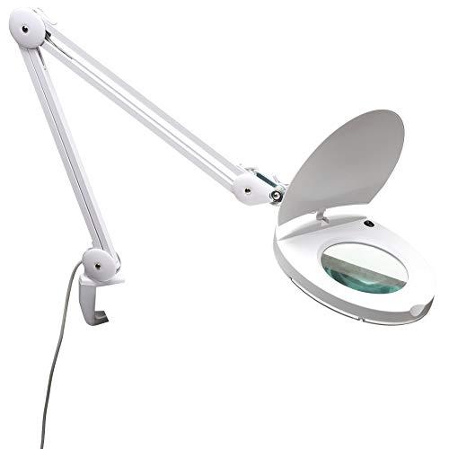 ELV Lupenleuchte, 1,75-fache Vergrößerung, LED 80 Stück, 8 W, Tischklemme