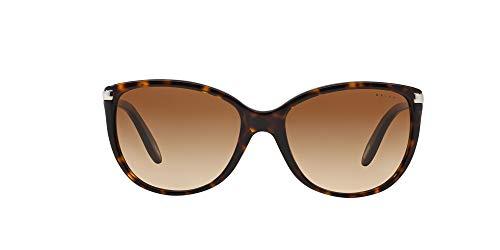 Ralph Damen RA 5160 Essential Ralph Logo Cateye Sonnenbrille, 510/13, Dark Tortoise, Brown Grad