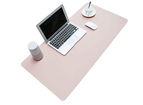 Alfombrilla para ratón de piel sintética resistente al agua de Bubm, alfombrilla perfecta para escribir, para la oficina y el hogar, ultrafina de 2mm, 80 x 40cm