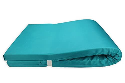 Colchón para Tumbona Impermeable. Cojín 180x60x6 Desenfundable, Cómodo y Elegante. Ideal para Jardín, Piscina, Playa, Terraza y Balcón. (Azul, 1)