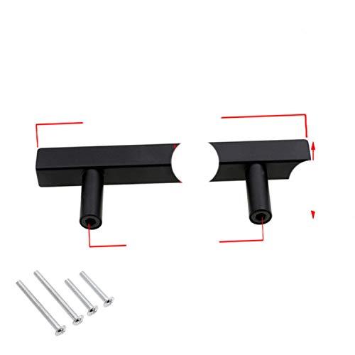 Tiradores de gabinete negro moderno cuadrado barra en T Diamter cocina baño armario cajonera tiradores y perillas de hardware